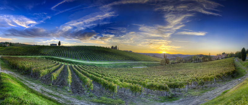 Sunset Over Chianti - (Tuscany, Italy)Read more at: www.blamethemonkey.com