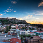 Acropolis Sunset - Athens Greece