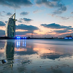 Sunset Over The Burj Al Arab - Dubai UAE