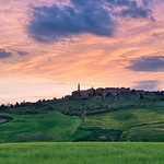Colors In The Sky - Pienza Tuscany - Italy