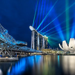 Marina Bay Sands and The Helix Bridge - Singapore